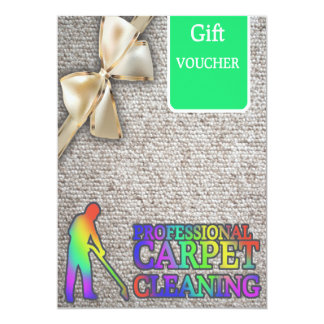 Carpet Cleaning Service Gift Voucher 13 Cm X 18 Cm Invitation Card