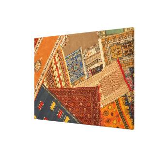 Carpet Collage Close Up Canvas Print