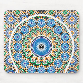Carpet decorated in mosaic mouse pad