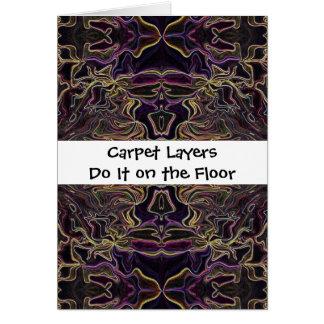 carpet layers humor greeting card