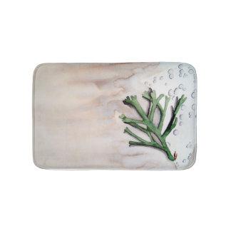 Carpet of bath alga in watercolor bath mat