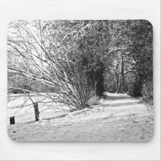 carpet of snow mouse pad