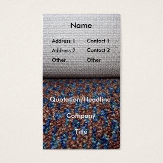 Carpet roll business card