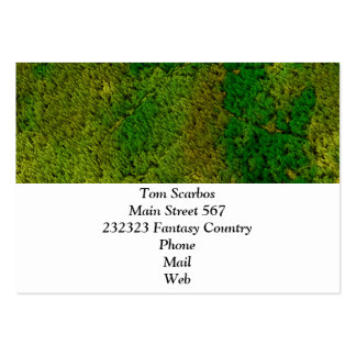 carpet structure,green business card