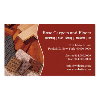 Carpets and Floors Pack Of Standard Business Cards