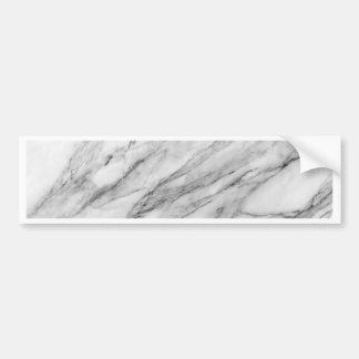 Carrara marble bumper sticker