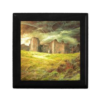 Carreg Cennen Castle .... Small Square Gift Box