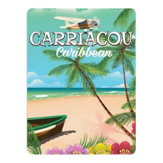 Carriacou travel poster 17 cm x 22 cm invitation card