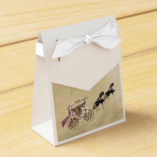 Carriage and Horses Wedding Party Favour Boxes