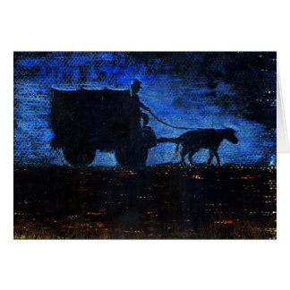 Carriage at dusk card