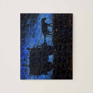 Carriage at dusk jigsaw puzzle
