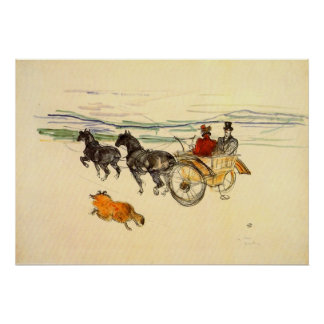 Carriage by Toulouse-Lautrec Print