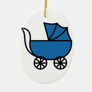 Carriage Ceramic Ornament