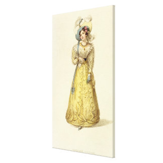 Carriage Costume, fashion plate from Ackermann's R Stretched Canvas Print