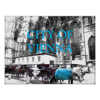 Carriage Horses Poster