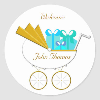 Carriage Invitation, Welcome Round Stickers