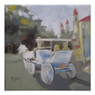 Carriage Ride Sightseeing Poster