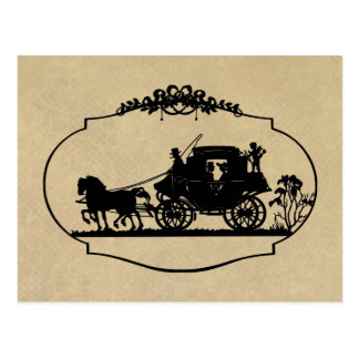 Carriage Ride With Cupid Apparel and Gifts Postcard