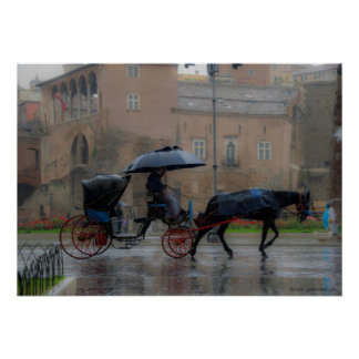 carriage with horse poster