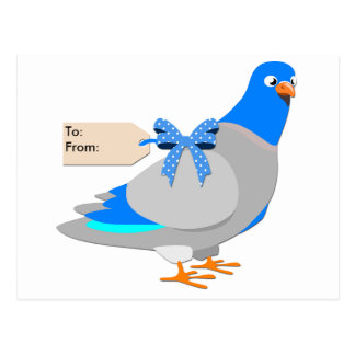 Carrier Pigeon / Give them the Bird postcard