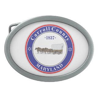 Carrol County seal Belt Buckles