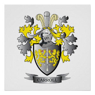 Carroll Coat of Arms Poster