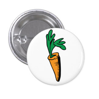 carrot 3 cm round badge