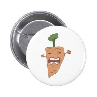 carrot 6 cm round badge