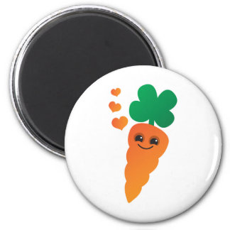 Carrot 6 Cm Round Magnet