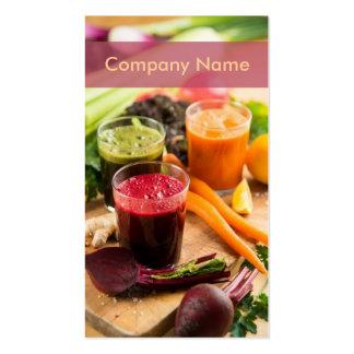 Carrot Beet Fresh Juice Business Card