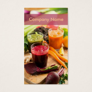 Carrot Beet Fresh Juice Raw Cocktail Bar Food Business Card