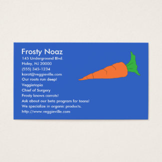 Carrot business cards
