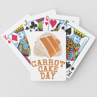 Carrot Cake Day - Appreciation Day Bicycle Playing Cards