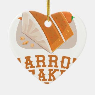 Carrot Cake Day - Appreciation Day Ceramic Ornament