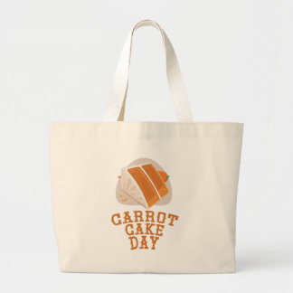 Carrot Cake Day - Appreciation Day Large Tote Bag