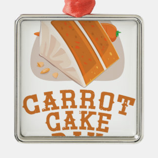 Carrot Cake Day - Appreciation Day Metal Ornament