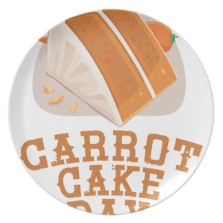 Carrot Cake Day - Appreciation Day Plate