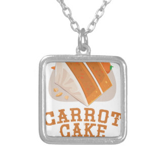 Carrot Cake Day - Appreciation Day Silver Plated Necklace