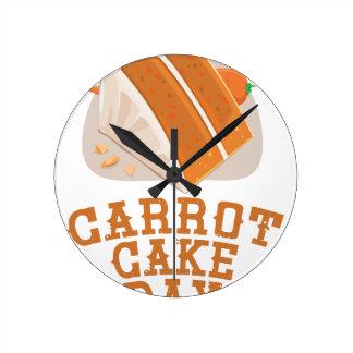 Carrot Cake Day - Appreciation Day Wallclocks