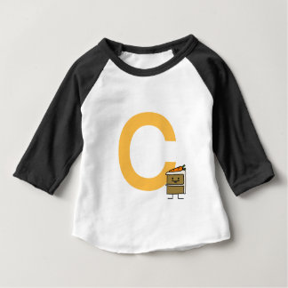 Carrot Cake Slice bunny teeth icing dessert Baby T-Shirt
