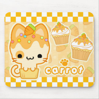 Carrot Cupcake Kitty Mousepad