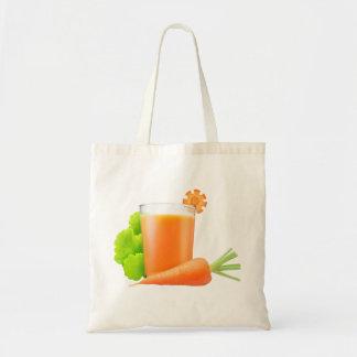 Carrot juice budget tote bag