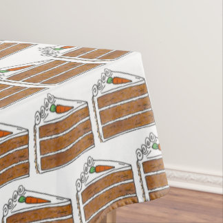 Carrot Layer Cake Cream Cheese Frosting Dessert Tablecloth