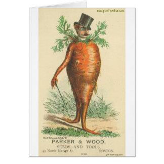 carrot man card