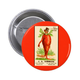 carrot man Victorian trade card 6 Cm Round Badge