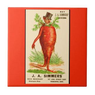 carrot man Victorian trade card Ceramic Tile