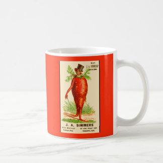 carrot man Victorian trade card Coffee Mug