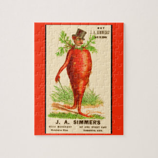 carrot man Victorian trade card Jigsaw Puzzle