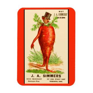 carrot man Victorian trade card Magnet