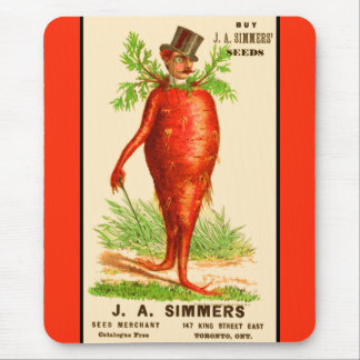carrot man Victorian trade card Mouse Pad